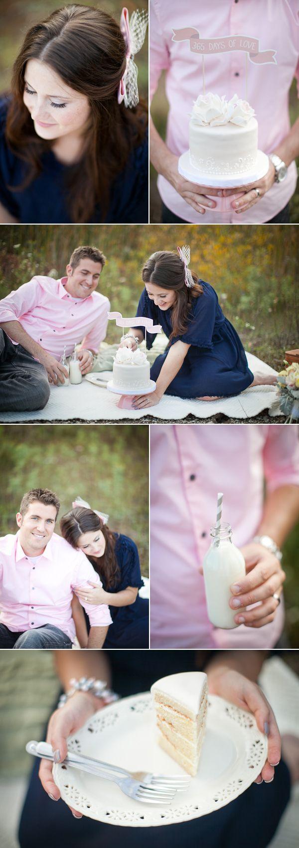 primeiro aniversário de casamento