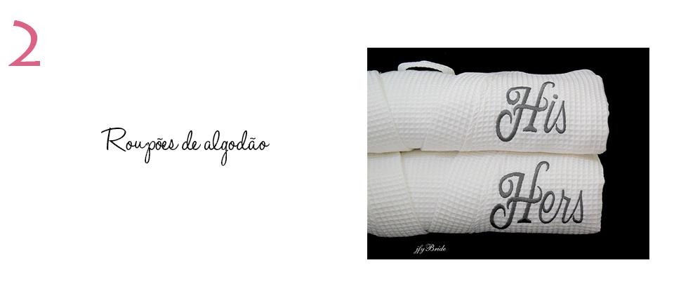 Ideia de presente para bodas de algodão