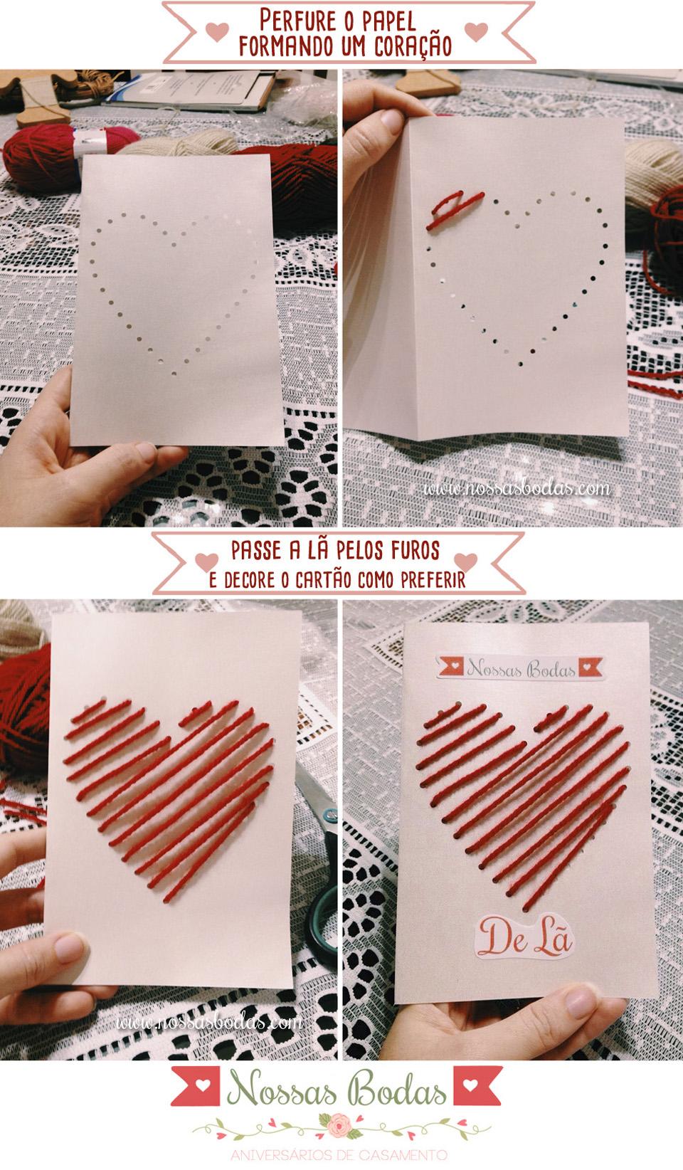 Cartão Para Bodas de Lã - Site Nossas Bodas - Aniversarios De Casamento