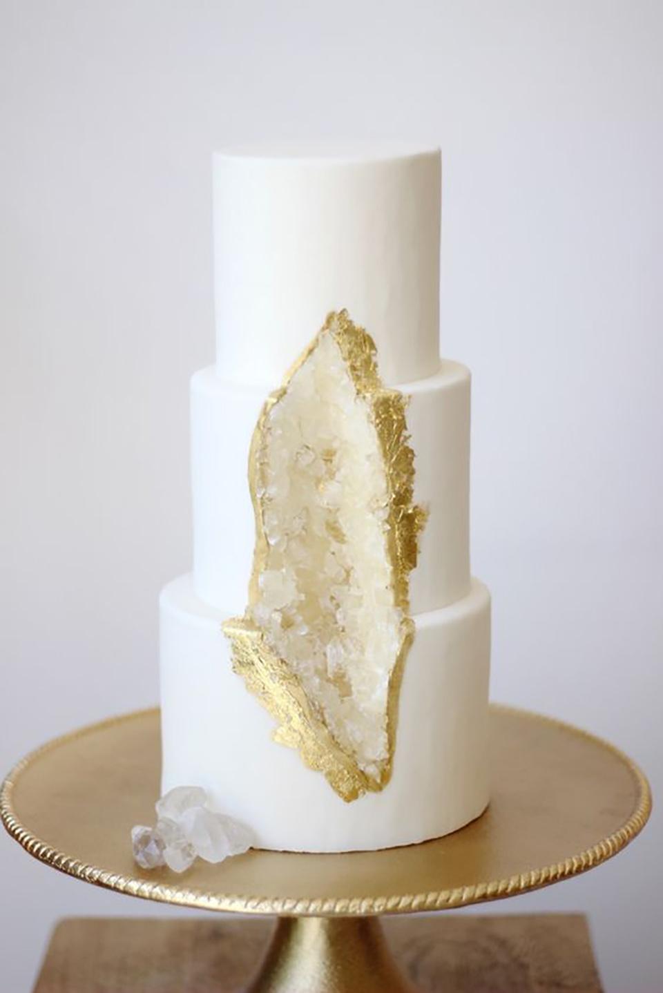 geode cake bodas
