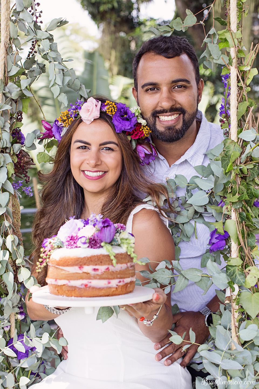 bolo para bodas de flores