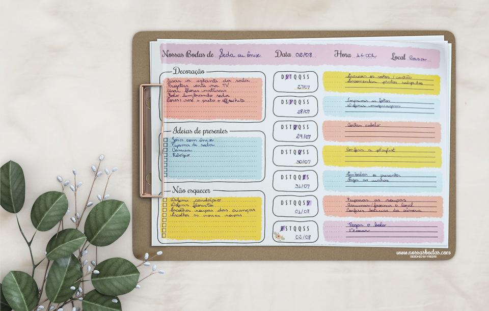 planner bodas aniversario de casamento blog nossas bodas