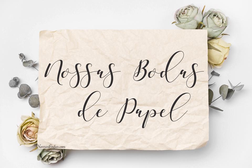 bodas de papel 1 ano de casamento