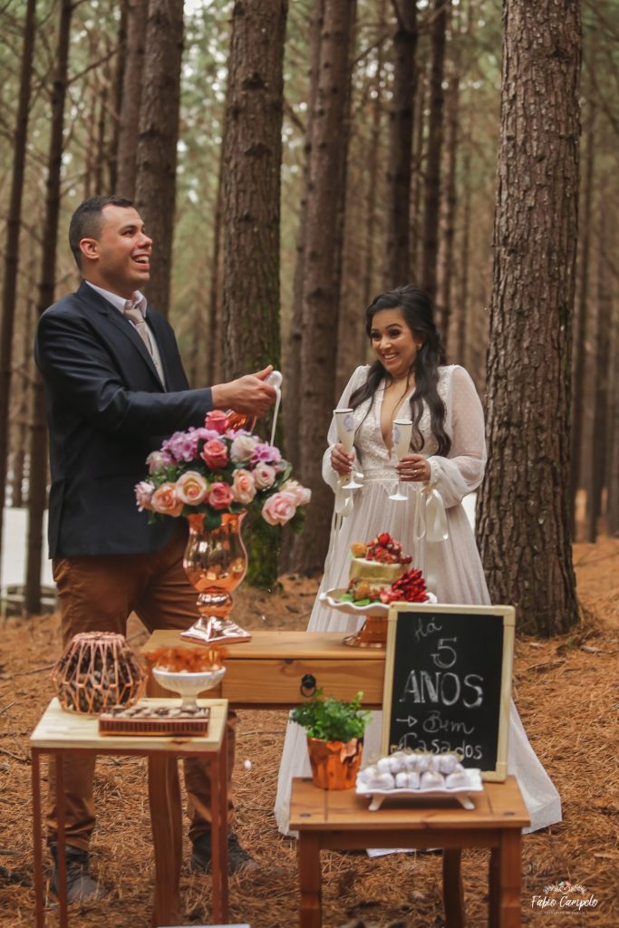 Renovação de votos - bodas de madeira - 5 anos de casamento - tedesco ecopark