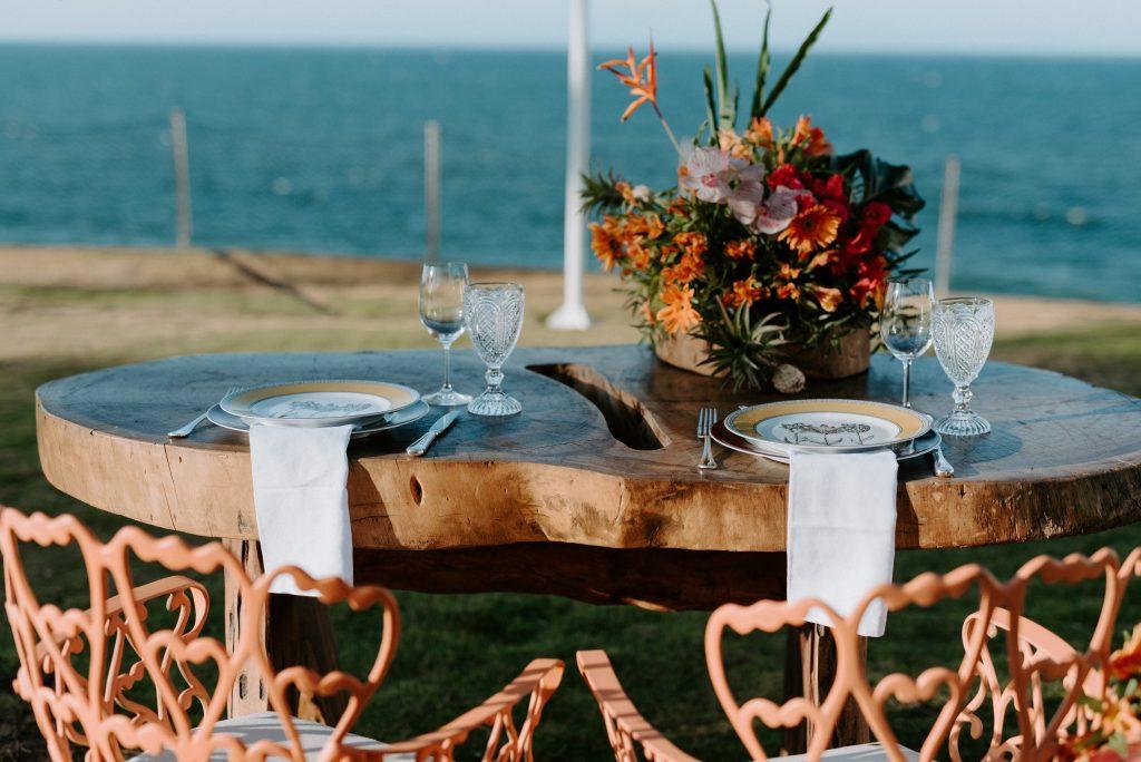 Mesa para dois romântica