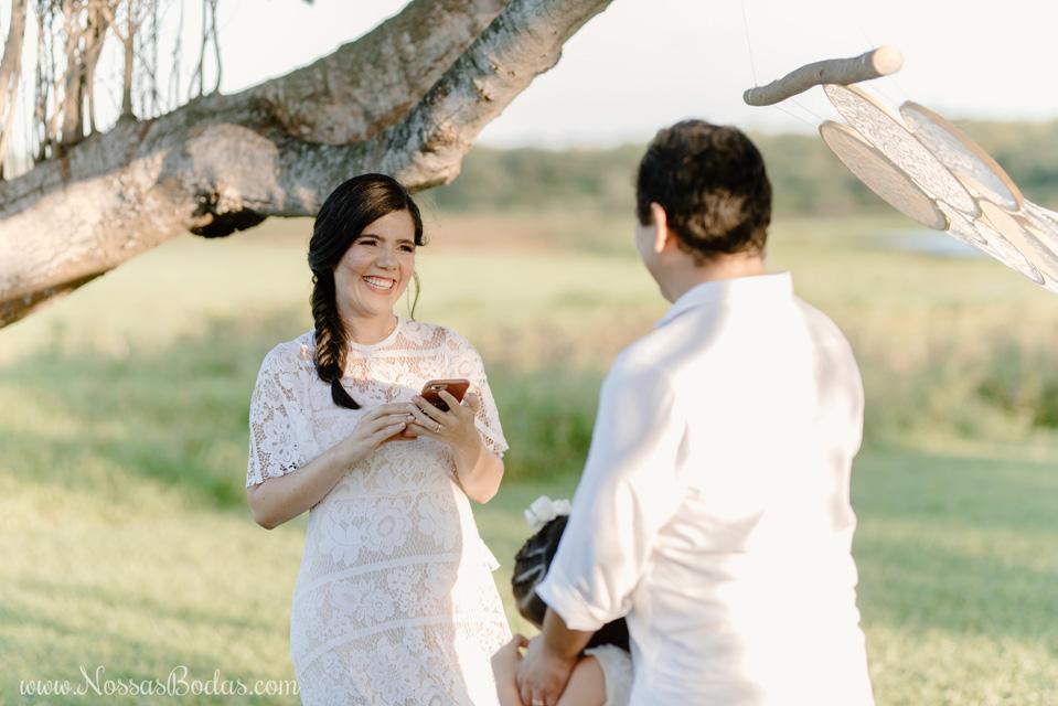 bodas de linho ou renda